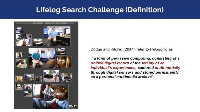 Lifelog Search Challenge (Motivation)