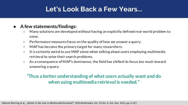 Let's Look Back a Few Years... ● A few statements/findings: ○ Many solutions are developed without having an explicitly de...