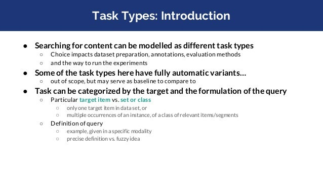 Task Types (at Campaigns): Overview