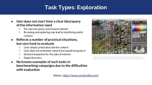 Task Design is About Trade-offs: Aspects to consider Tasks shall ○ model real-world content search problems ■ in order to ...