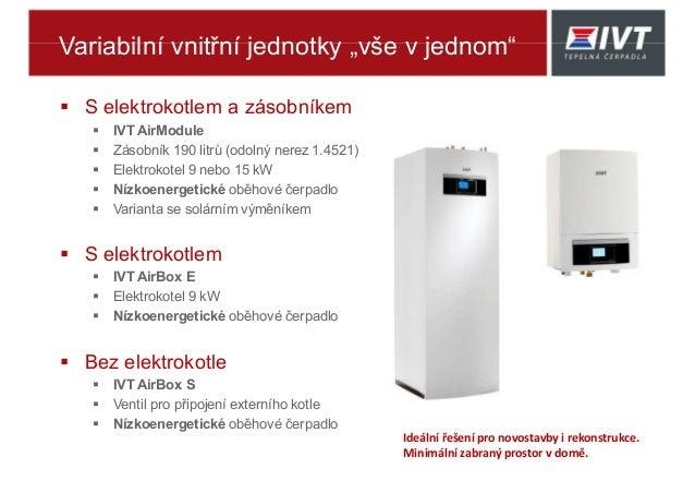 """Variabilní vnitřní jednotky """"vše v jednom""""  S elektrokotlem a zásobníkem  IVT AirModule  Zásobník 190 litrů (odolný ner..."""