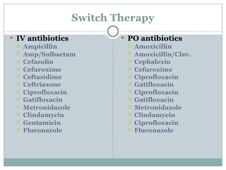 Can I Switch From Cipro To Amoxicillin