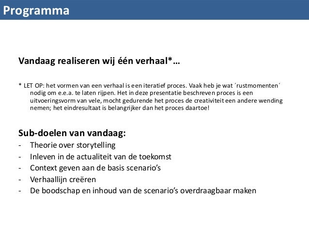 Workshop Storytelling Scenario Planning Slide 3