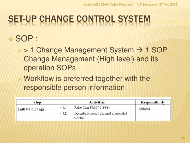 how to implement process change