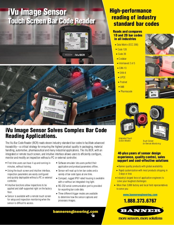 iVu Image Sensor                                                                                          High-performance...