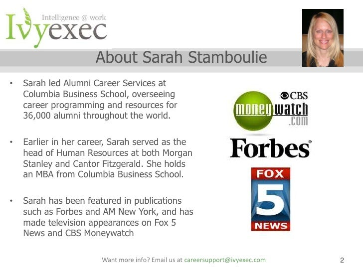 Ivy Exec Webinar Salary Negotiation Webinar With Sarah