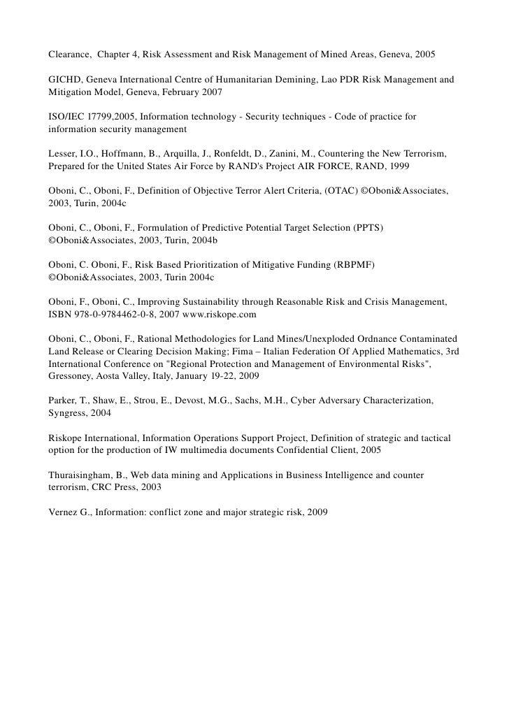 Clearance,Chapter4,RiskAssessmentandRiskManagementofMinedAreas,Geneva,2005  GICHD,GenevaInternationalCentr...