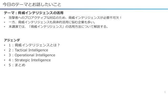 Internet Week 2020:C12 脅威インテリジェンスの実践的活用法 Slide 2
