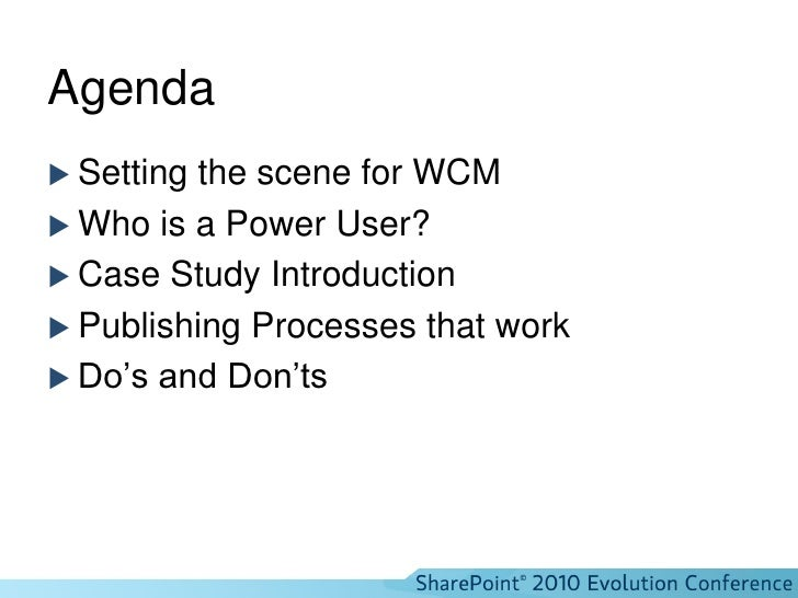 IW210 WCM for the Power User - how to use publishing