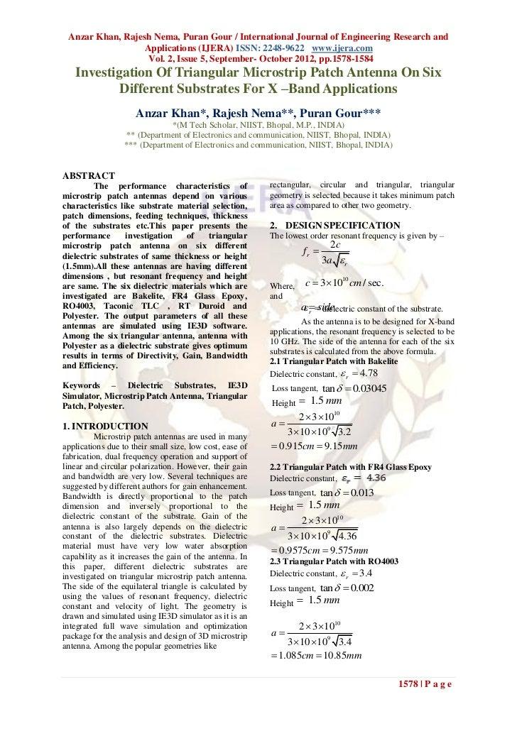 Anzar Khan, Rajesh Nema, Puran Gour / International Journal of Engineering Research and                  Applications (IJE...