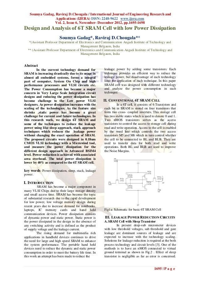Soumya Gadag, Raviraj D.Chougala / International Journal of Engineering Research and                  Applications (IJERA)...