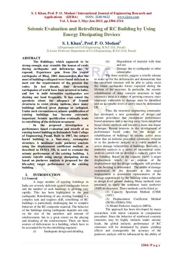 S. I. Khan, Prof. P. O. Modani / International Journal of Engineering Research andApplications (IJERA) ISSN: 2248-9622 www...