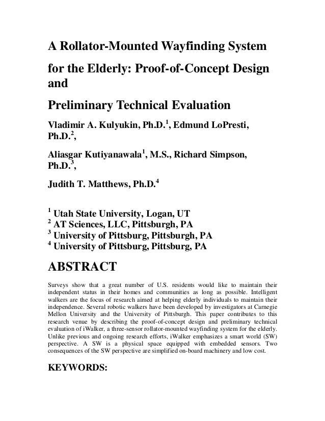 A Rollator-Mounted Wayfinding System for the Elderly: Proof-of-Concept Design and Preliminary Technical Evaluation Vladimi...