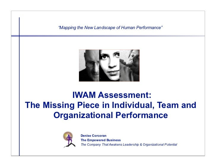 """Mapping the New Landscape of Human Performance""           IWAM Assessment:The Missing Piece in Individual, Team and      ..."