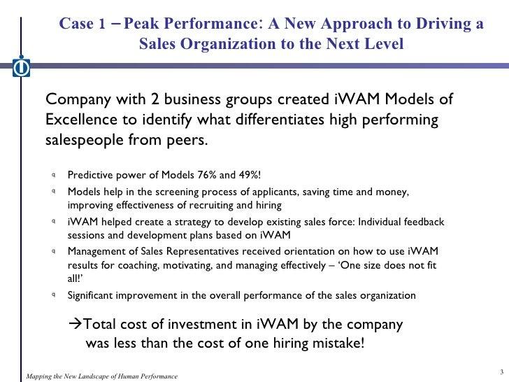 Model of Excellence - Case Studies of Peak Performance Slide 3