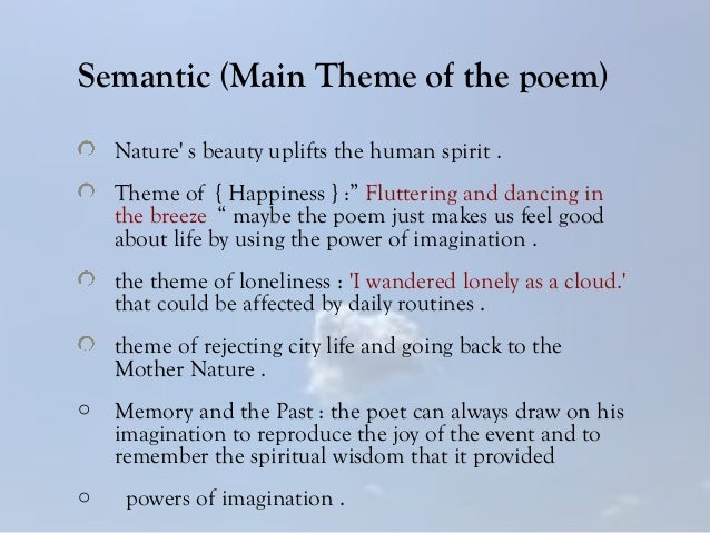 poetry explanation on wordsworths poem essay Sample essay english 201025 the poem is more complex she creates a poetry that, like the violin playing she invokes.