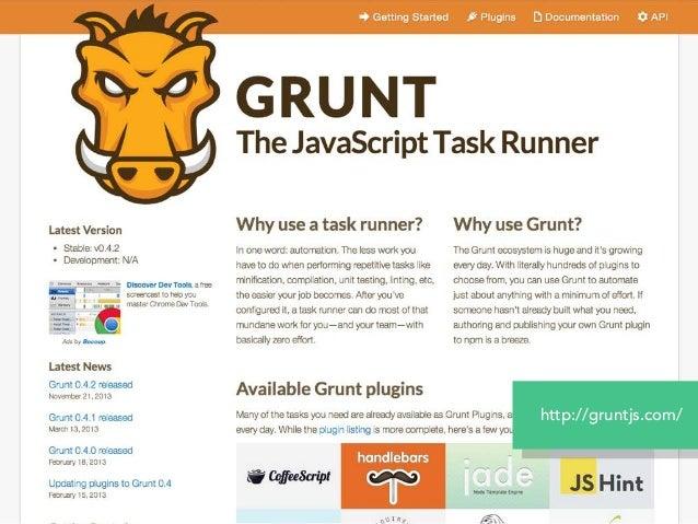 $ npm install grunt --save-dev $ npm install grunt-csso --save-dev gruntをインストール grunt-<plugin_name> をインストール `--save-dev`はd...