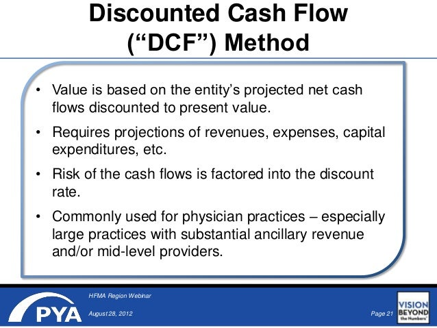 the practical application of discounted cash flow The practical application of discounted cash-flow-based valuation methods andrás takács faculty of business and economics, university of pécs, hungary abstract.