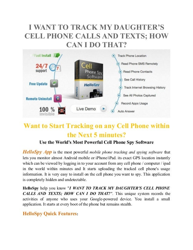 is there a way to monitor cellphonecalls