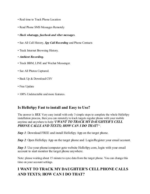 I Want To Track My Daughter S Cell Phone Calls And Texts How Can I D