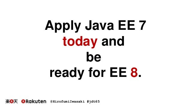 Seven Points for Applying Java EE 7
