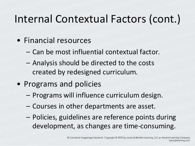 internal and external contextual factor for curriculum development This theory was developed by herzberg, a psychologist who believed that   what are the internal factors that impact negatively on teachers in curriculum   figure 2: external factors impacting on teachers in curriculum implementation   curriculum which must be relevant in the context of the community 6.