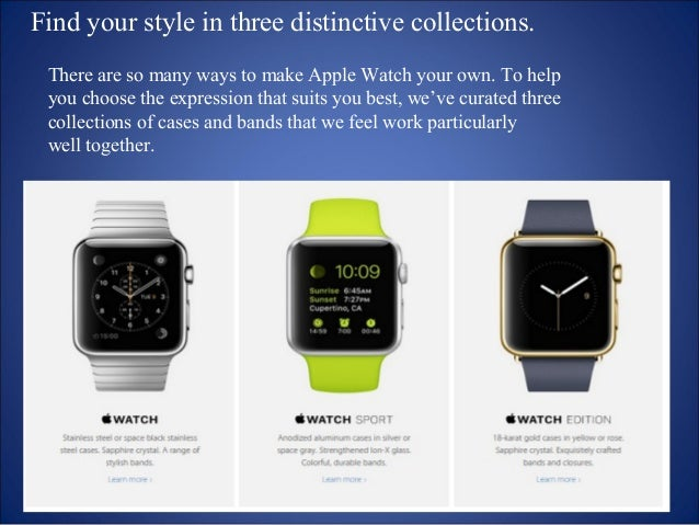 Not just a display  A Retina display is the primary surface for  every interaction with Apple Watch. And it's  clear why. ...