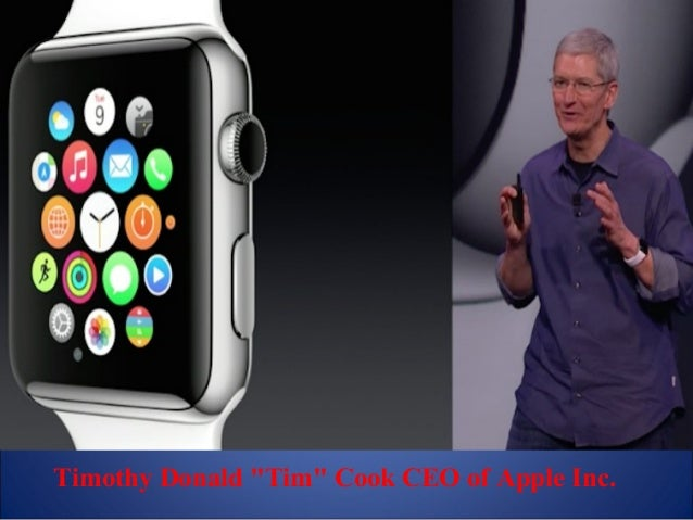 """Timothy Donald """"Tim"""" Cook CEO of Apple Inc."""