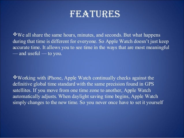 features  We all share the same hours, minutes, and seconds. But what happens  during that time is different for everyone...