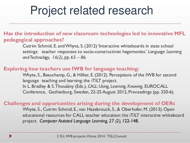 Innovative Classroom Practices In The Light Of Constructivism In ~ Iwb presentation vilnius final