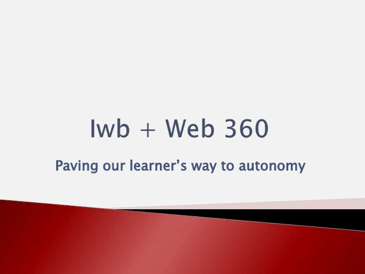 Paving our learner's way to autonomy
