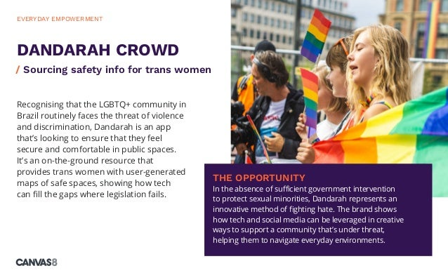 Recognising that the LGBTQ+ community in Brazil routinely faces the threat of violence and discrimination, Dandarah is an ...