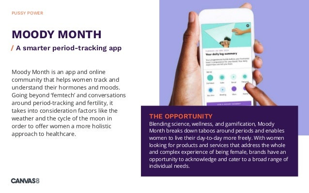 Moody Month is an app and online community that helps women track and understand their hormones and moods. Going beyond 'f...