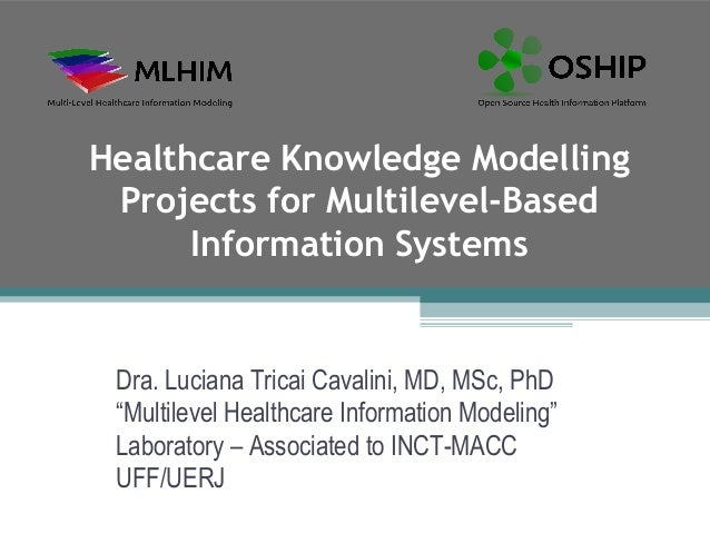 Healthcare Knowledge Modelling Projects for Multilevel-Based      Information Systems Dra. Luciana Tricai Cavalini, MD, MS...