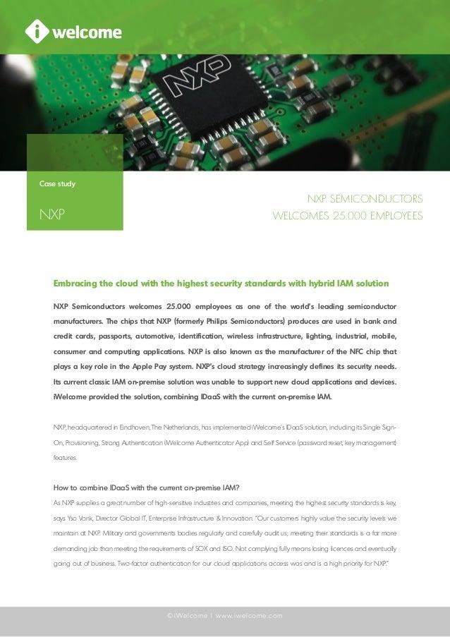 iWelcome case study: NXP Semiconductors - Hybrid IAM