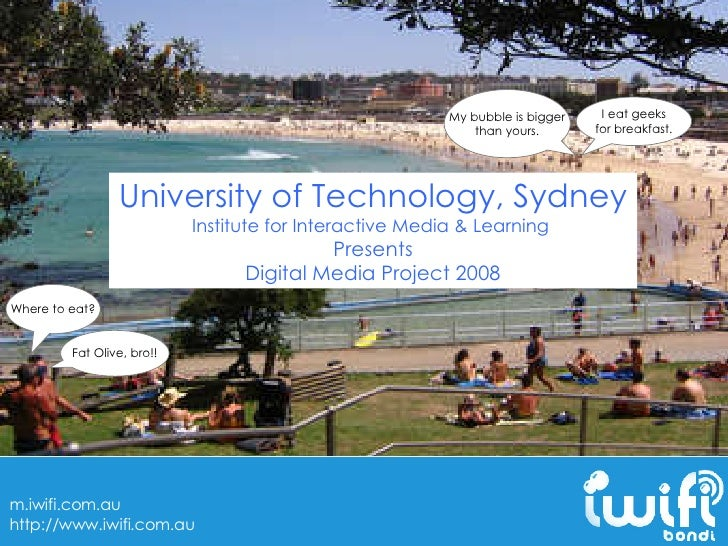 University of Technology, Sydney Institute for Interactive Media & Learning  Presents Digital Media Project 2008 I eat gee...