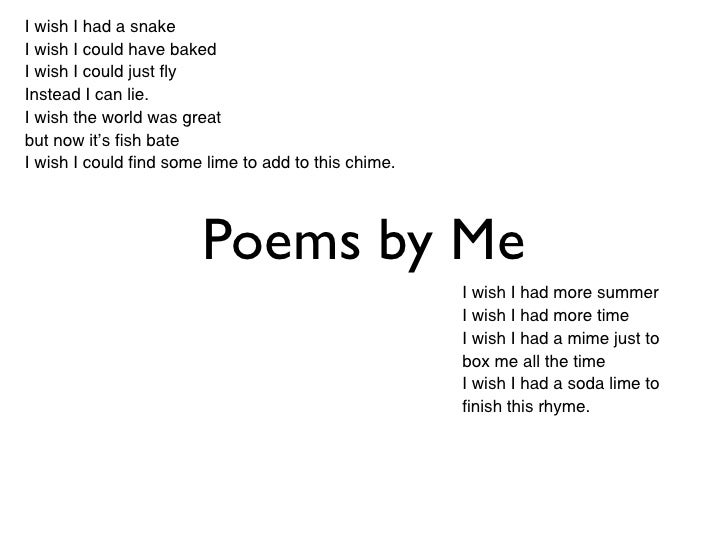 I wish poems