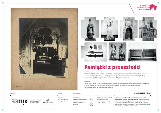 Wystawa powstała w ramach XXI Małopolskich Dni Dziedzictwa Kulturowego. Z dreszczykiem Parafia pw. Podwyższenia Krzyża Świ...
