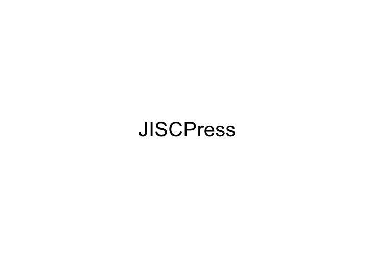 JISCPress