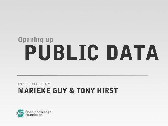 PUBLIC DATAOpening upMARIEKE GUY & TONY HIRSTPRESENTED BY