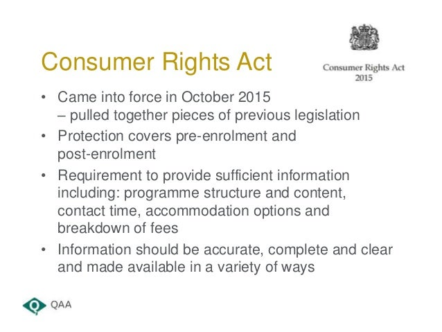 Consumer Contracts Regulations >> Right Here; Right Now: vProviding the Information your Students Need