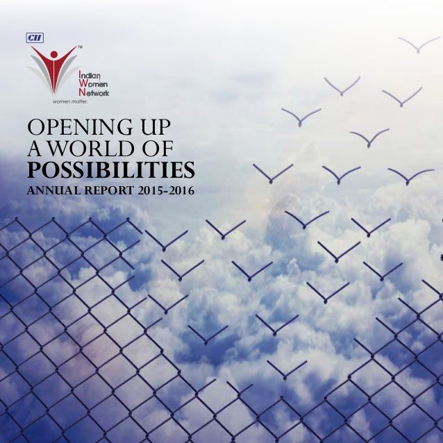 ANNUAL REPORT 2015-2016 OPENING UP AWORLD OF POSSIBILITIES