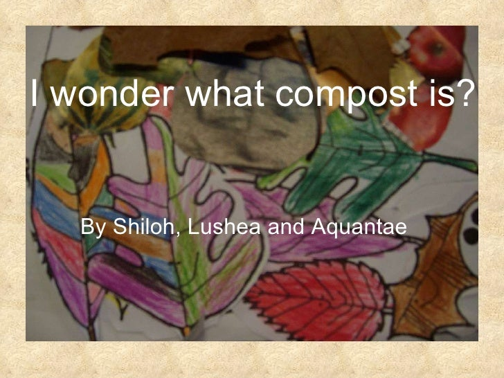 I wonder what compost is? By Shiloh, Lushea and Aquantae