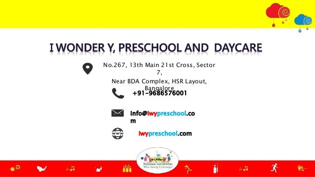 +91-9686576001 info@iwypreschool.co m No.267, 13th Main 21st Cross, Sector 7, Near BDA Complex, HSR Layout, Bangalore iwyp...