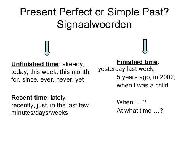 I)workshop pres. perfect vs simple past