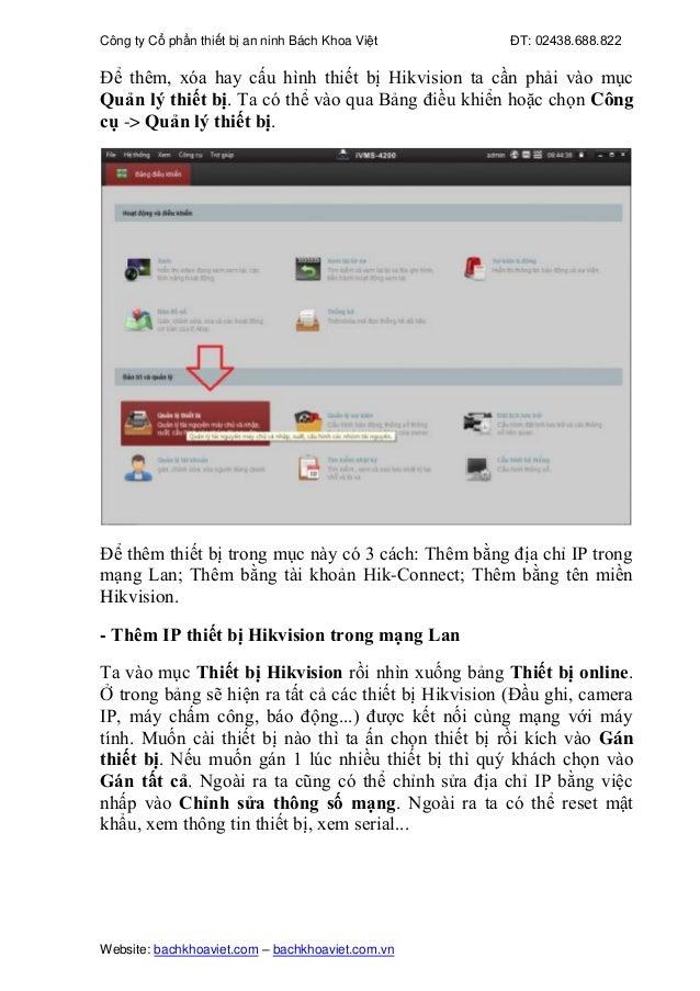 Hướng dẫn toàn tập phần mềm xem camera Hikvision ivms-4200