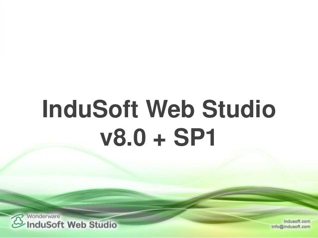 Service Pack One for InduSoft Web Studio 8.0