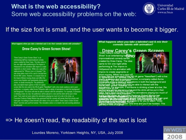 the problems of web accessibility Contact information for accessibility issues if you experience any difficulty in  accessing content on the ungedu website, please contact the ada coordinator  at.