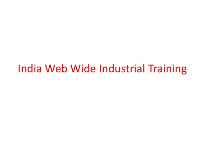 India Web Wide Industrial Training
