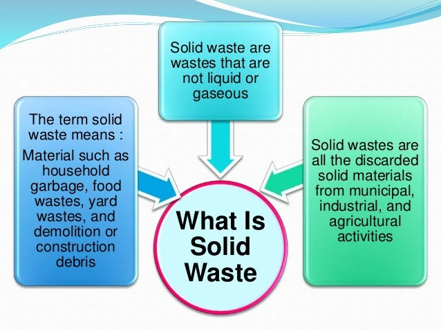 solid waste management Within the eu-funded intarese project [6], we aimed at assessing potential  exposures and health effects arising from municipal solid wastes,.